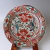 明代呉洲赤絵花鳥文皿