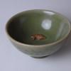 天龍寺青磁 双魚文茶碗
