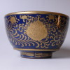瑠璃地 金襴手茶碗