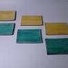 川瀬竹春 黄釉緑釉 銘々皿