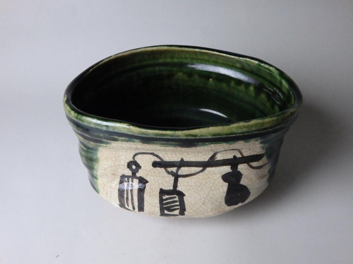 古織部茶碗 (2)