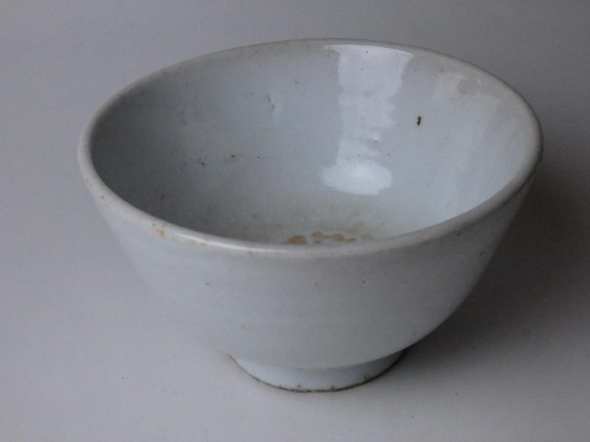 李朝白磁茶碗 (1)