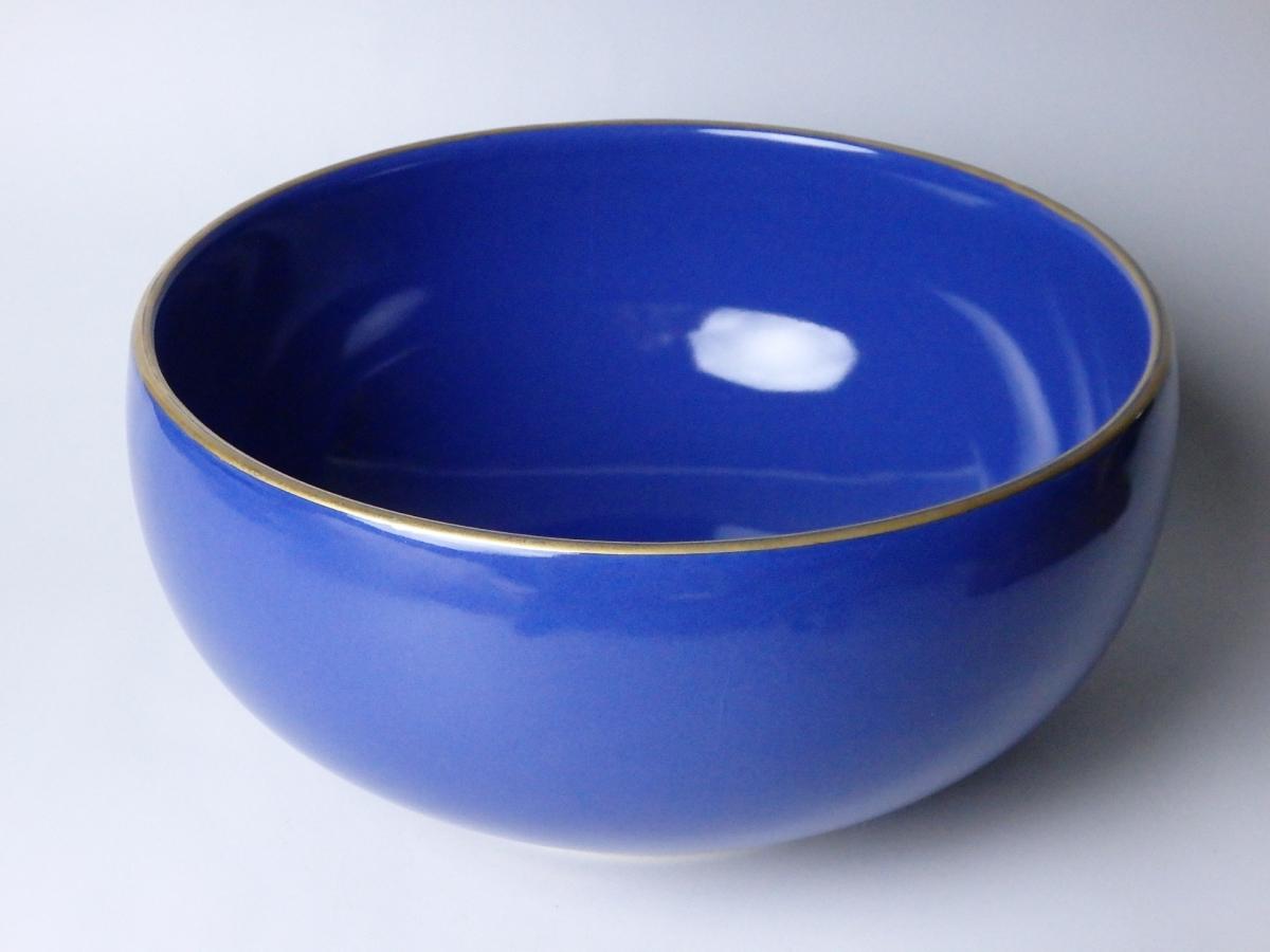 板谷波山瑠璃彩鉢 (1)