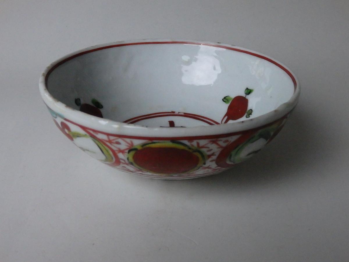 永楽保全呉須赤絵茶碗 (3)