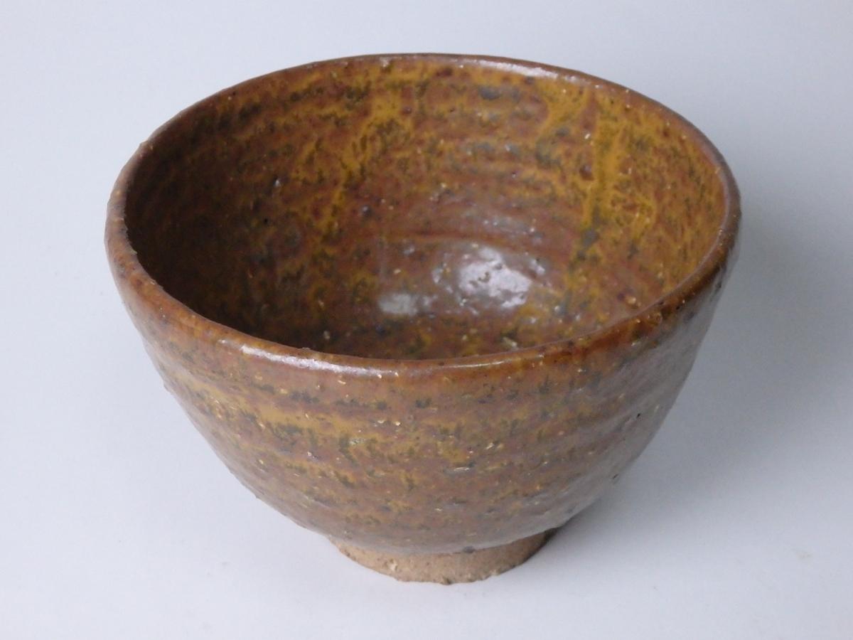 長岡空権柿釉茶碗 (1)